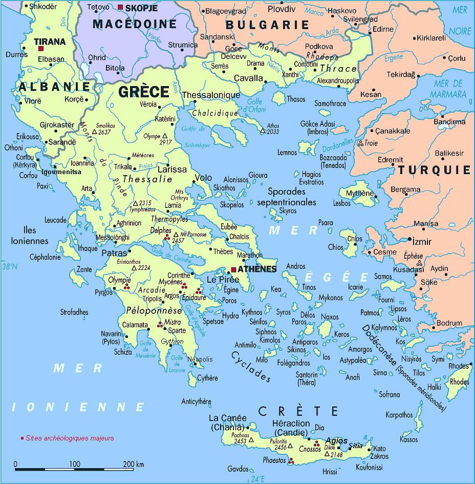 Grèce et Cyclades | Carte : Grèce Plan général de la Grèce a… | Flickr