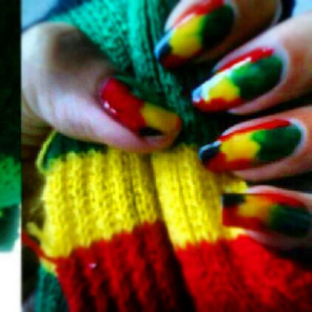 Reggae Nailart Rasta Fashion Girls Bobmarley Weed Flickr