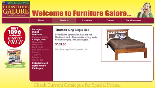 Bed advertised on web site | by Daniel Bowen