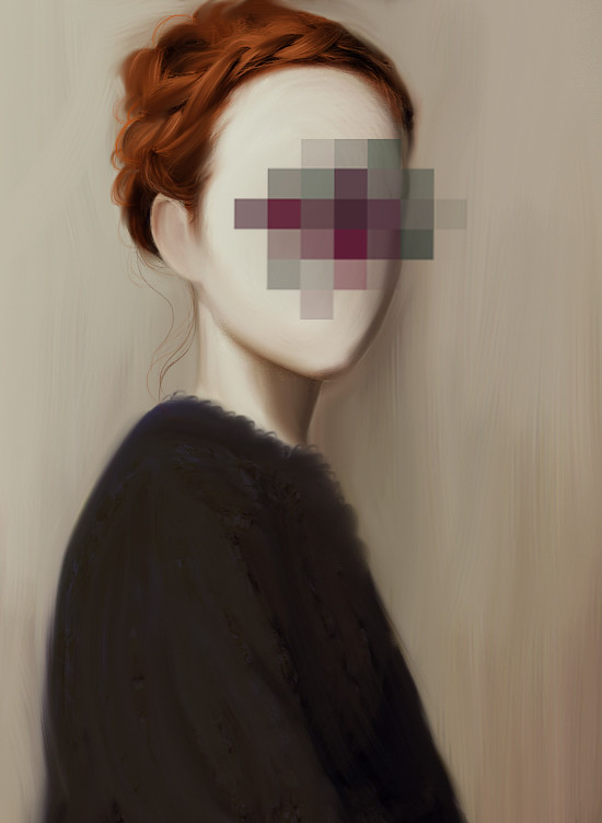 Blurred Face Painting