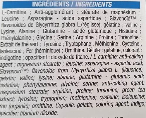 lipophédrine ingrédients