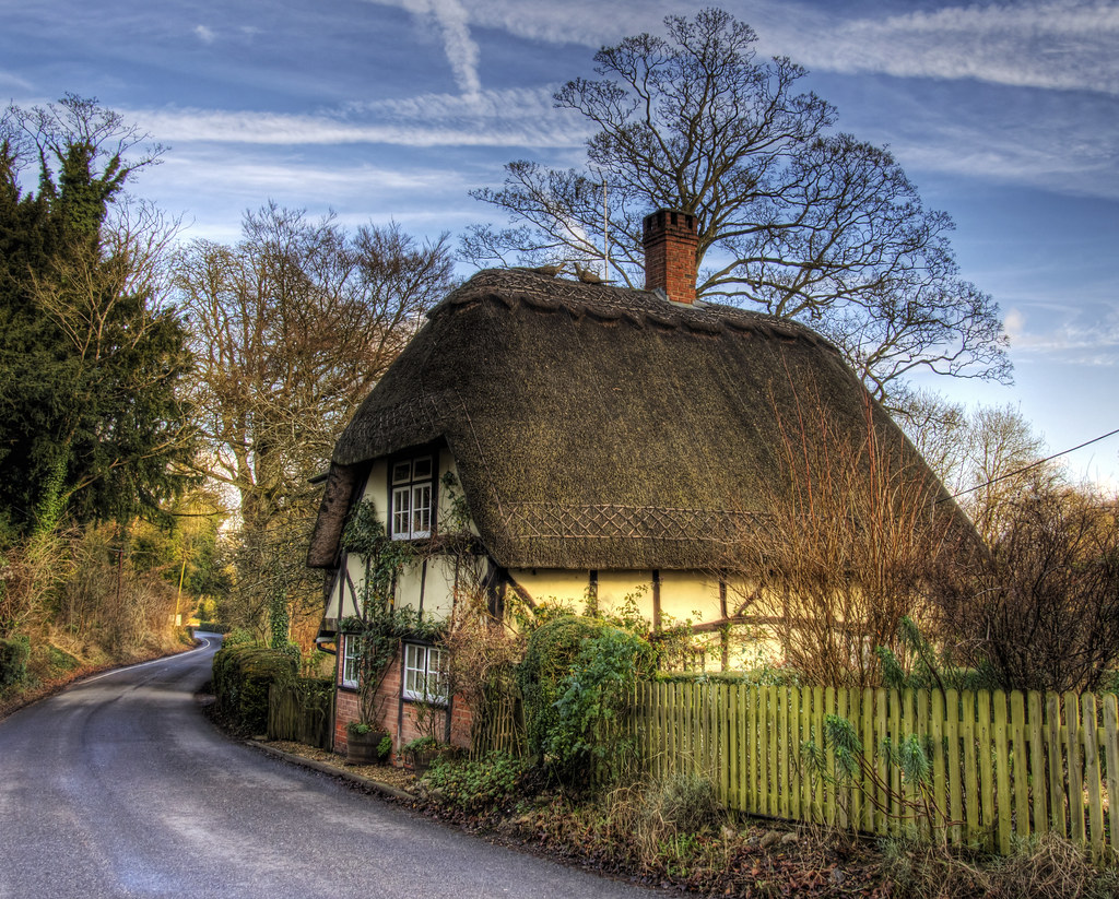 A Thatched Cottage At Wherwell In Hampshire Thatched A