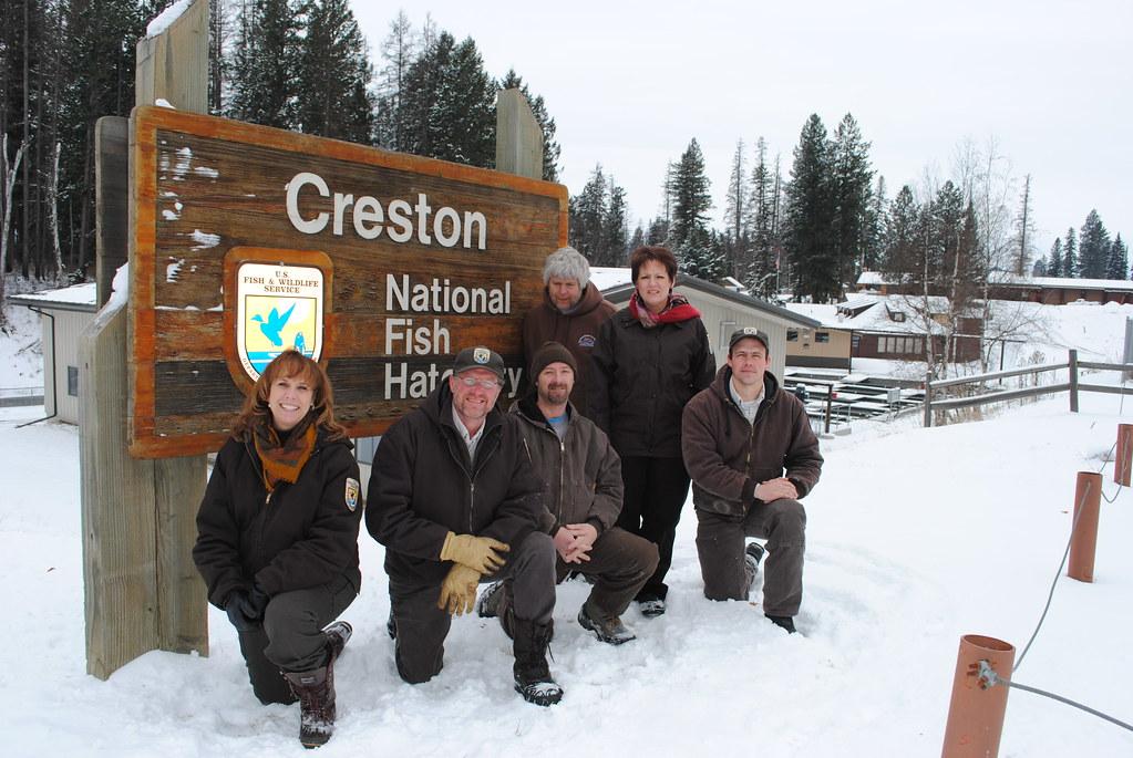 Staff At The Creston National Fish Hatchery Creston