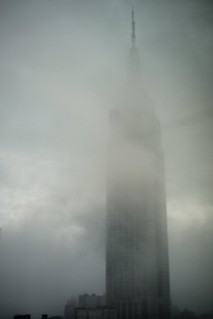 Foggy Empire State Building #walkingtoworktoday | by Michael Surtees