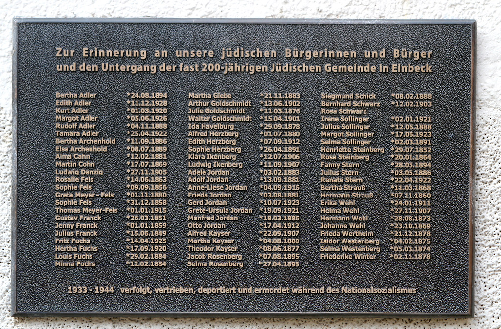 Names of Einbeck Jews who died in the Holocaust | Ken Bergman | Flickr