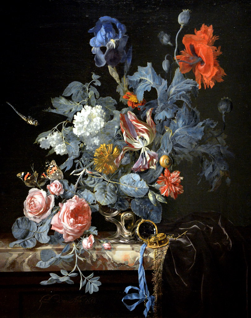 Willem Van Aelst Flowers In A Silver Vase 1663 At The L Flickr