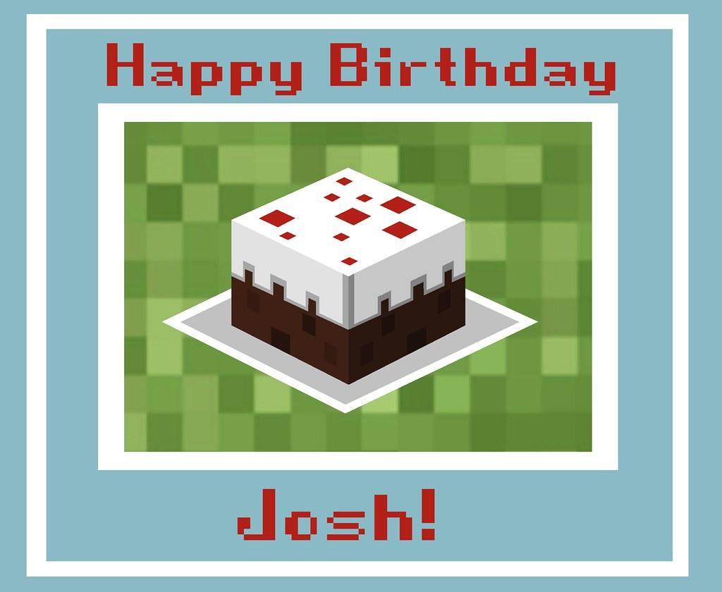 minecraft birthday card design  nathalie  flickr, Birthday card