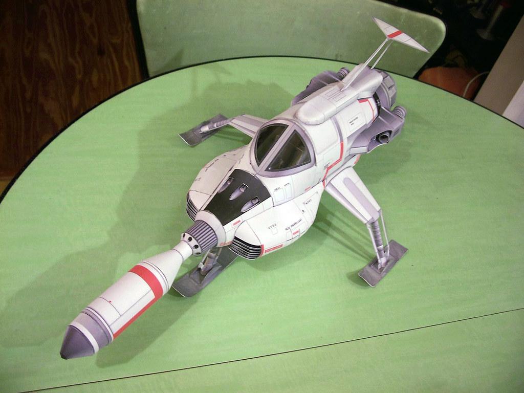"""UFO Interceptor paper model   20"""" long model built from ..."""