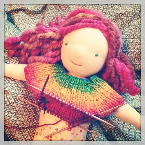 Knitting away! | by Fluttering By