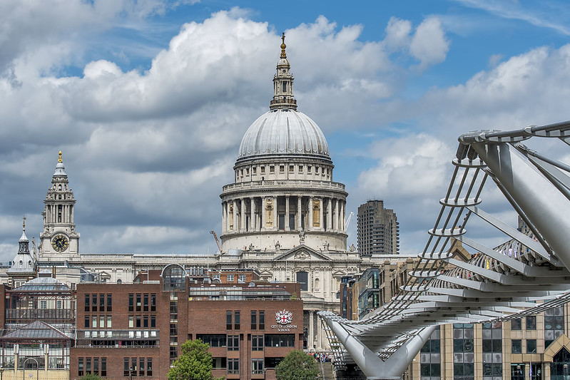 St. Paul's, City of London School, and the Millennium Bridge