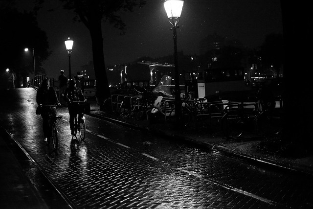 rainy night in Amsterdam