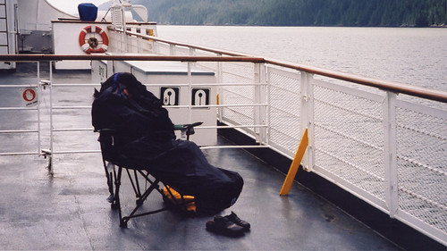 On the Queen of the North ferry departing from Prince Rupert a little too early for some passengers