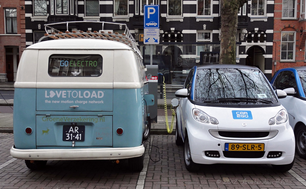 Amsterdam All Electric Vw Bus 2 Zero Emission And Almos Flickr