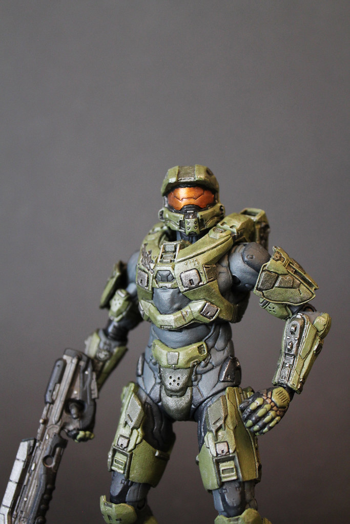 Halo 4 series 1: Master Chief | This figure was repainted