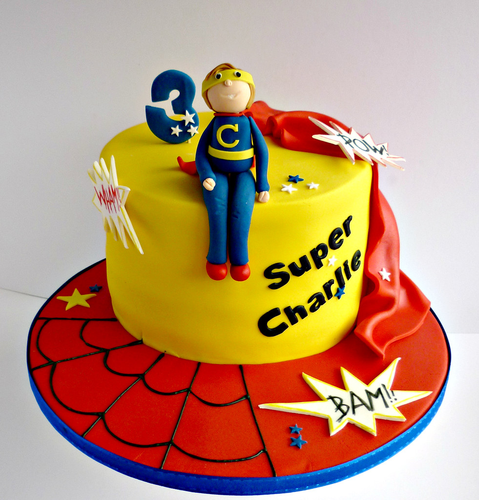 Superhero Themed Birthday Cake Liana Stevens Flickr