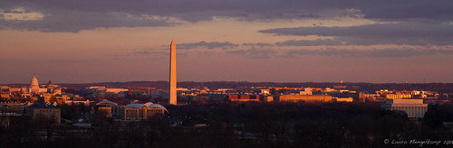 Washington DC Skyline at Sunset--Night of Inauguration [Ex ...
