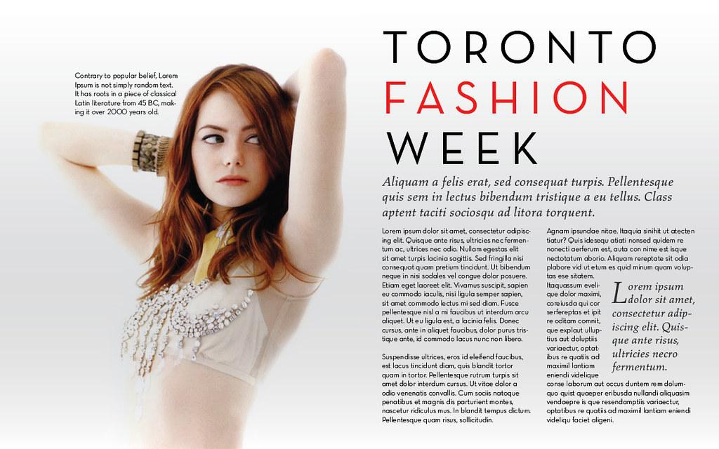E Portfolio Fashion Magazine Layout