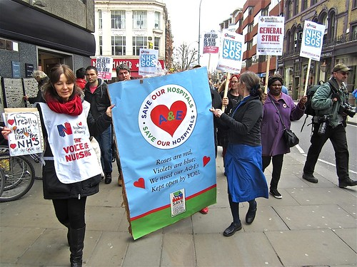 Roses are red, Violets are blue, We need our A&Es kept open by you | by Andy Worthington