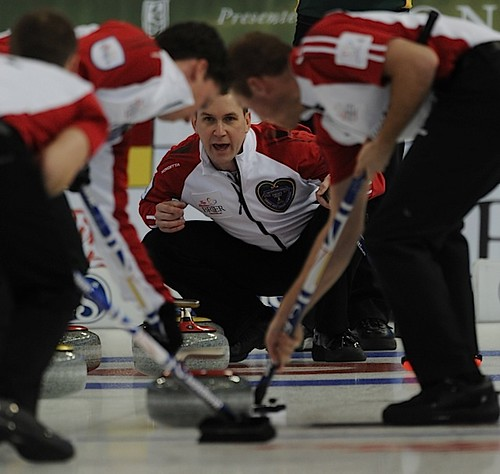 Edmonton Ab.Mar4,2013.Tim Hortons Brier.N.L. skip Brad Gushue,third Brett Gallant,lead Geoff Walker,CCA/michael burns photo | by seasonofchampions