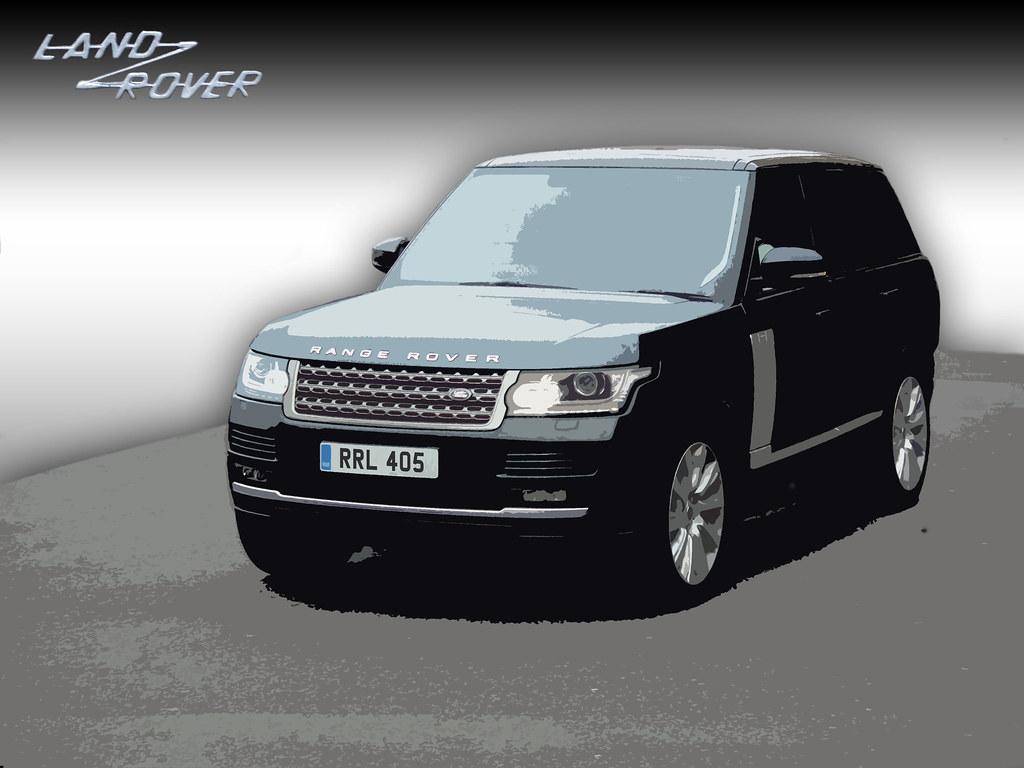 Range Rover L405 Art Version Using Photoshop Cutout