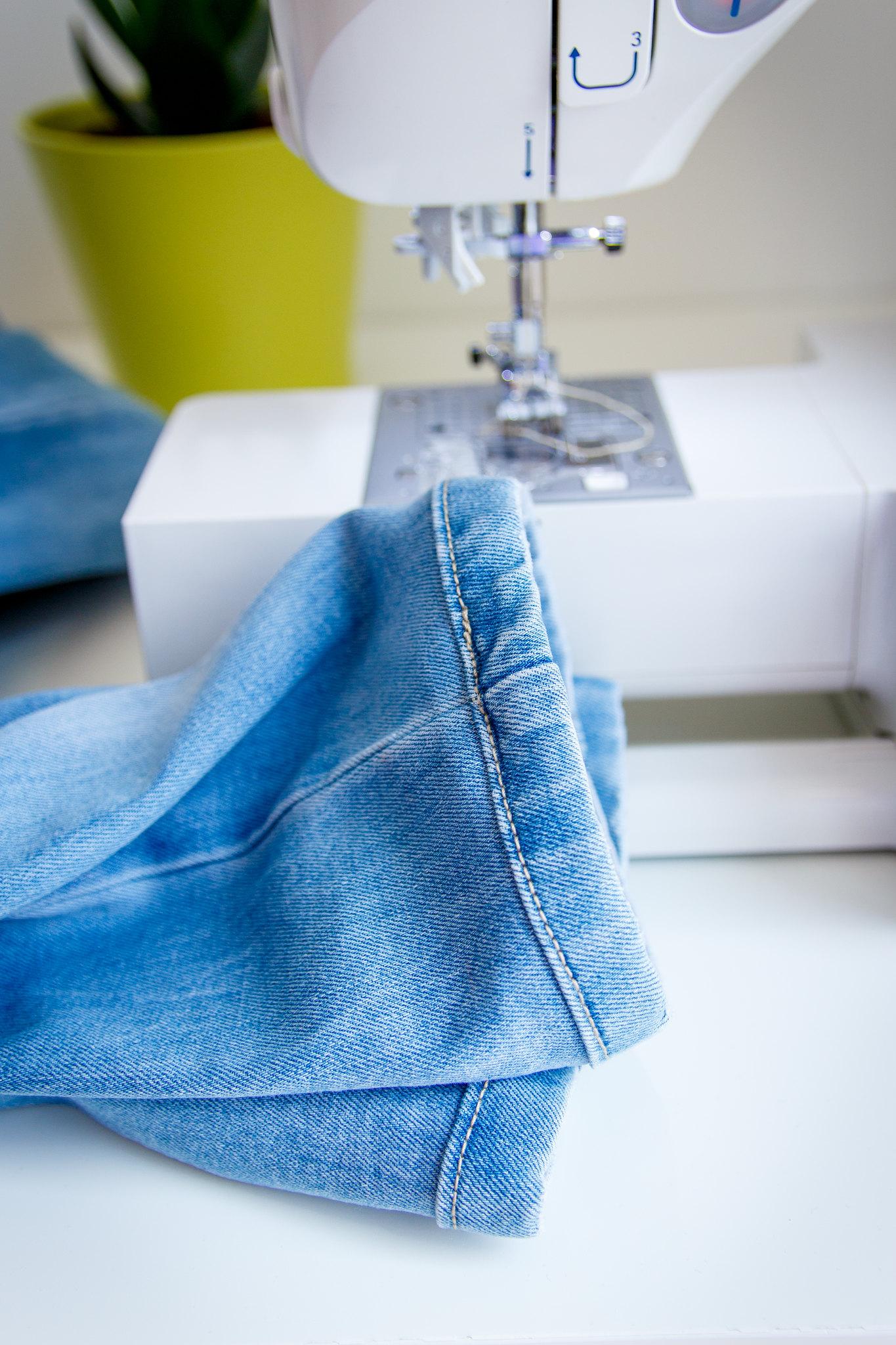 skrócone spodnie jeansowe