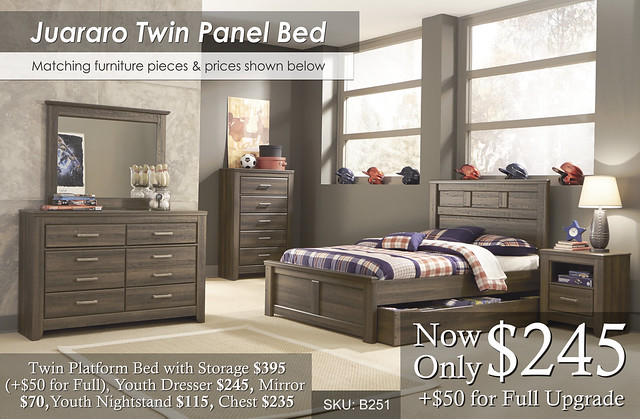 Juararo Twin Pane Bed and invidual prices B251