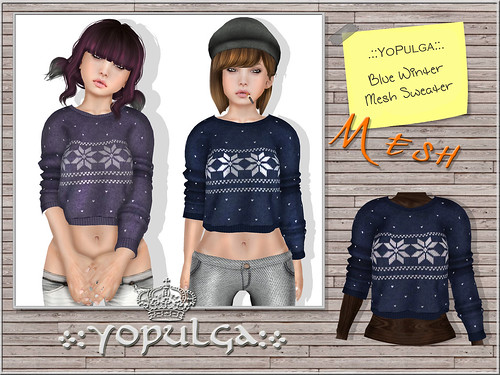 .::YoPulga::. Blue Winter Mesh Sweater | by .::YoPulga::.