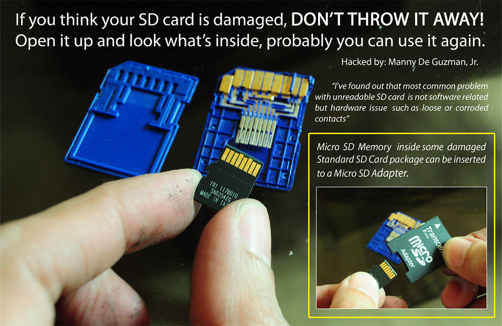 Sd Card Hack Do It Yourself Simplest Memory Card Repair