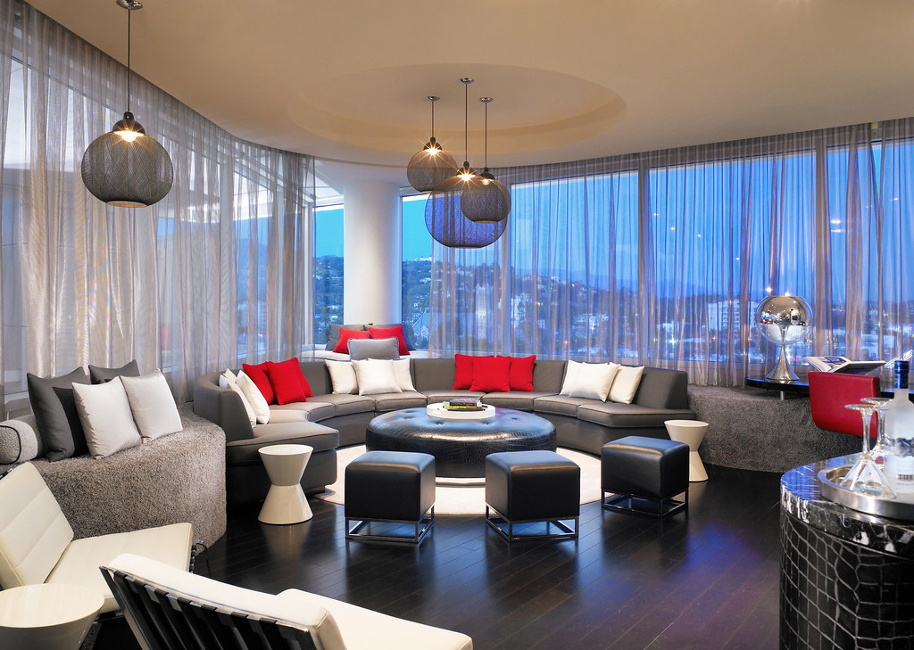 W hollywood extreme wow suite parlor extreme wow suite for W hotel bedroom designs