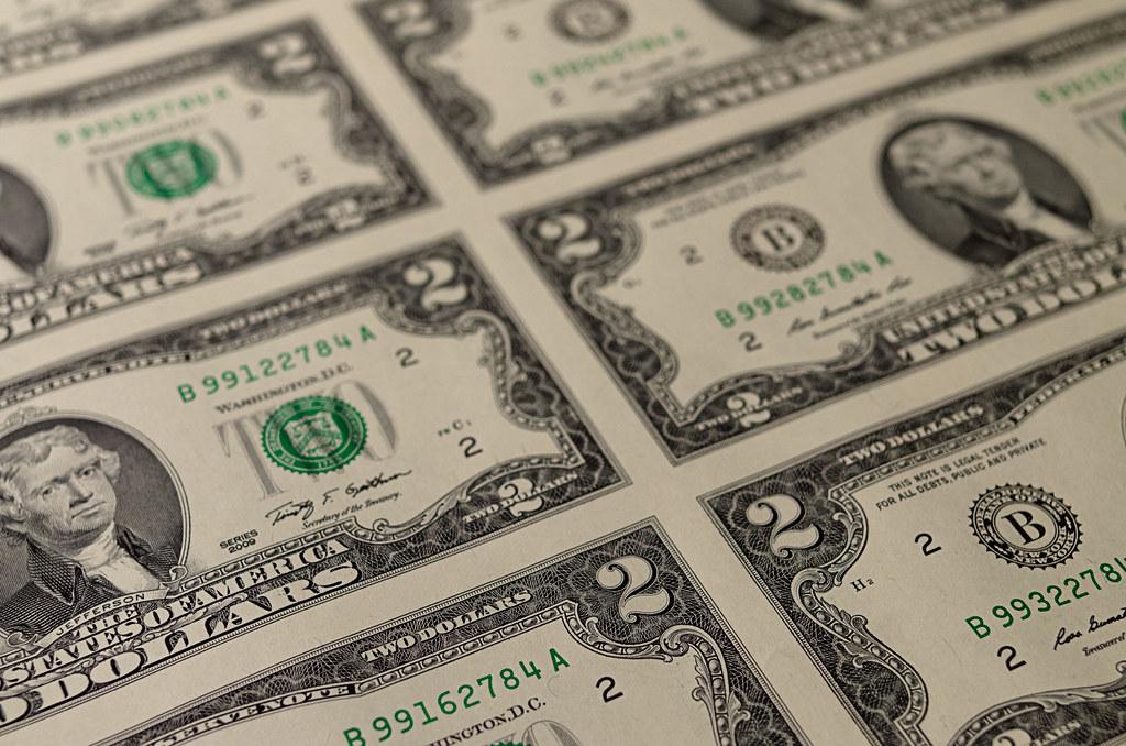 uncut sheet of 2 dollar bills  project 365  328  365
