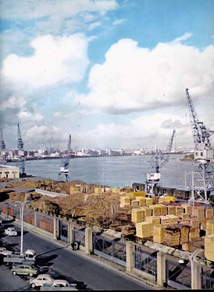 le port de bordeaux en 1960 el de burdeos en 1960 flickr