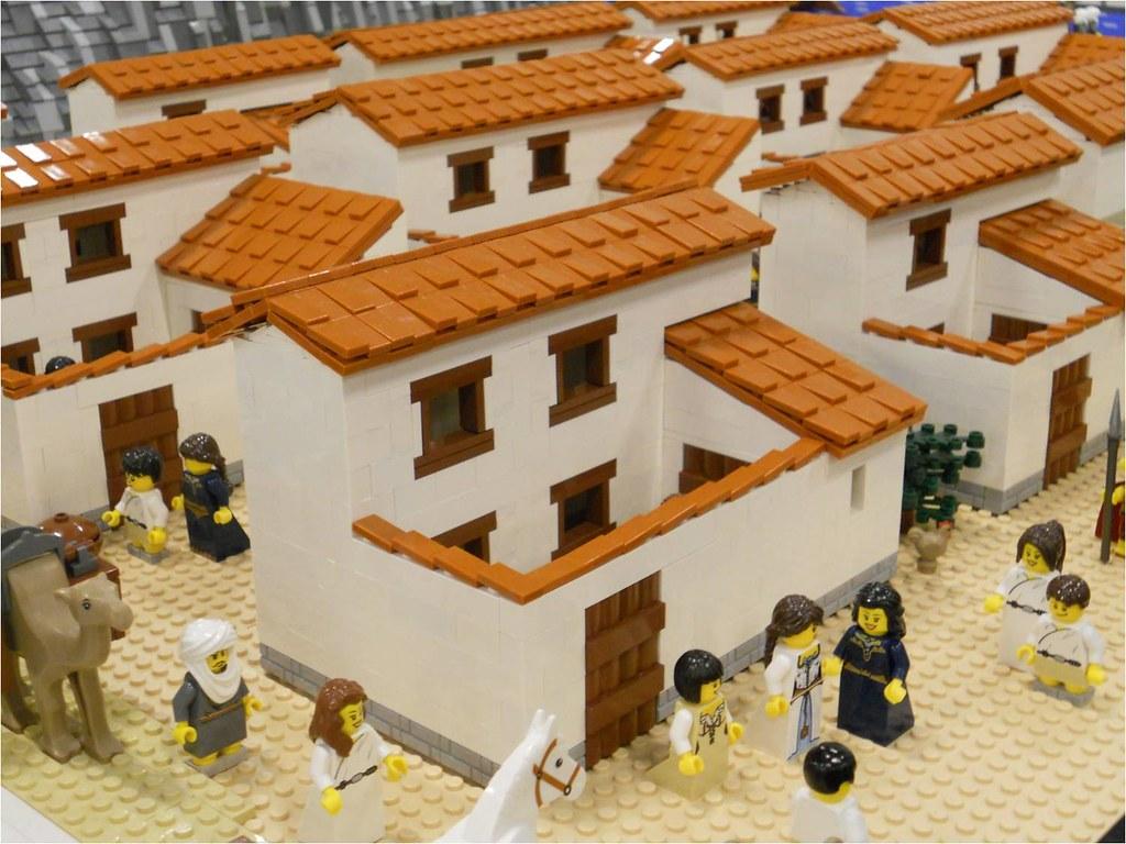 LEGO Ancient Greek Houses | Part of Ancient Greek LEGO layou ... Lego