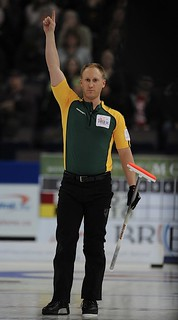 Edmonton Ab.Mar10,2013.Tim Hortons Brier.Northern Ontario skip Brad Jacobs.CCA/michael burns photo | by seasonofchampions