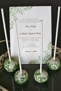 Green Vine Cake Pops to match Pretty Wedding Suite | by Sweet Lauren Cakes