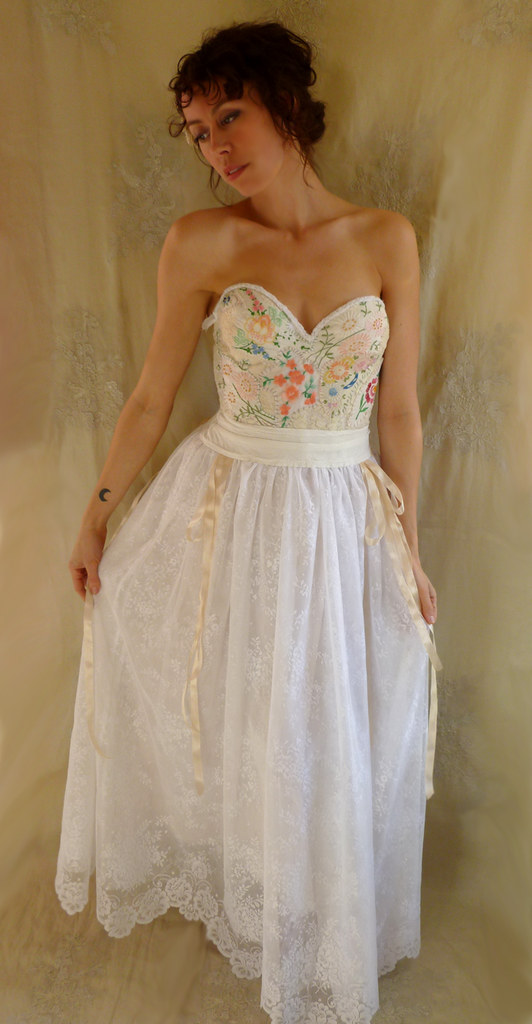 Meadow Bustier Wedding Gown | A wedding dress created out of… | Flickr