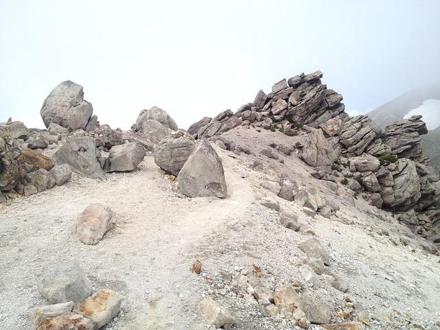 白山 御前峰 登山道