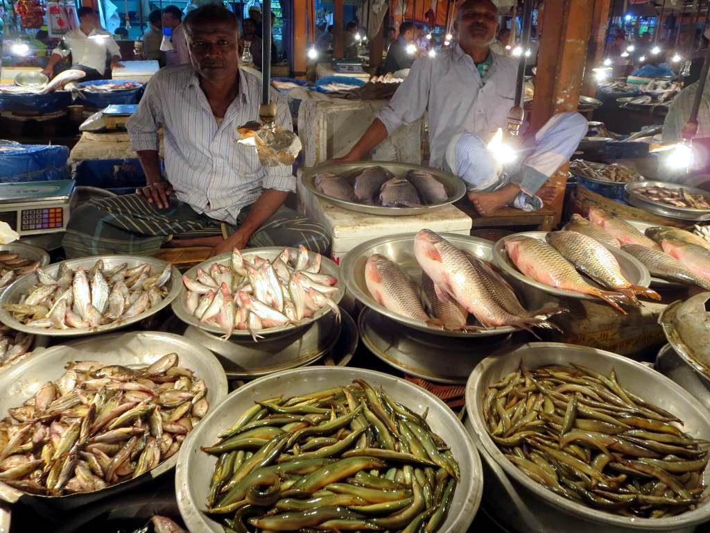 Fish Market The Fish Market In Central Sylhet