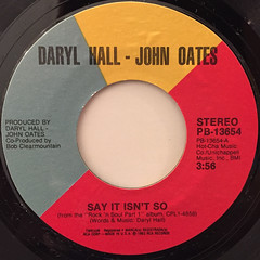 HALL & OATES:SAY IT ISN'T SO(LABEL SIDE-A)