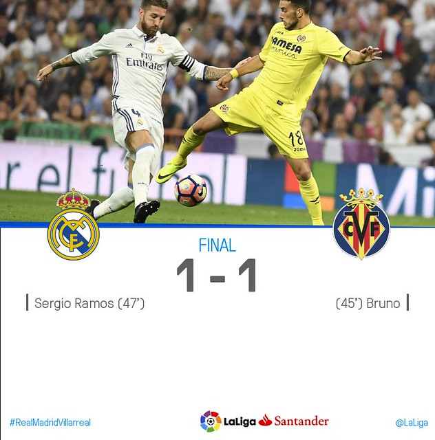 La Liga (Jornada 5): Real Madrid 1 - Villarreal 1