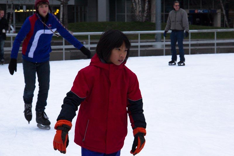 Ice Skating Rosa Parks Circle Grand Rapids December 26, 20