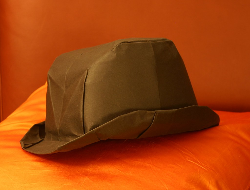 origami bowler hat designed by peter stein feb 2013