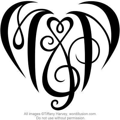Heart design a custom design of the initials quot m amp n quot flickr