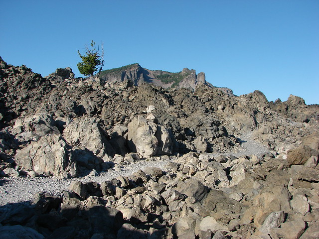 Paulina Peak from the Big Obsidian Flow Trail