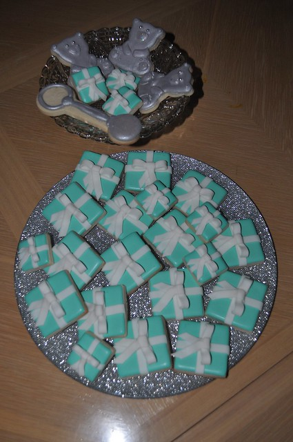 tiffany and co baby shower cookies flickr photo sharing