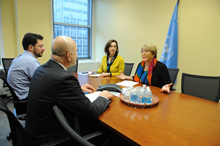 UN Women Executive Director Michelle Bachelet meets with Michel Forst | by UN Women Gallery