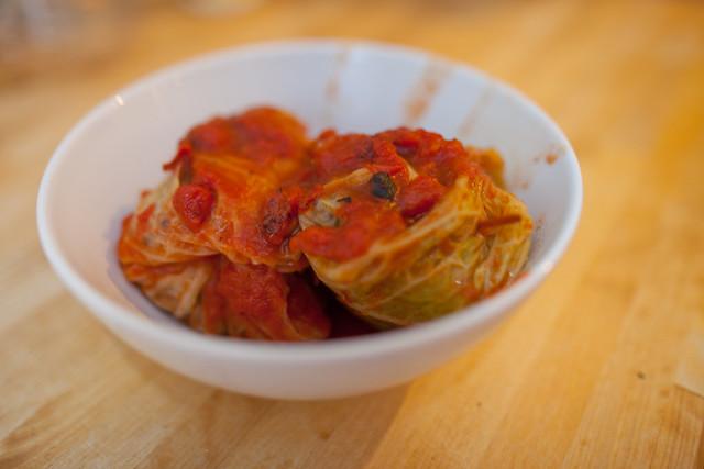 Vegan Italian Stuffed Cabbage   Recipe found here: smittenki ...