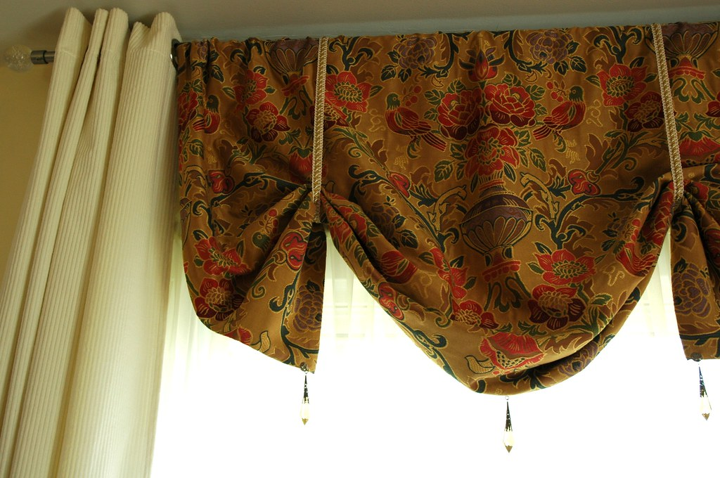 ... Living Room Curtains, Premade IKEA Cotton Cream Corduroy Curtains,  Custom Floral And Bird Pattern