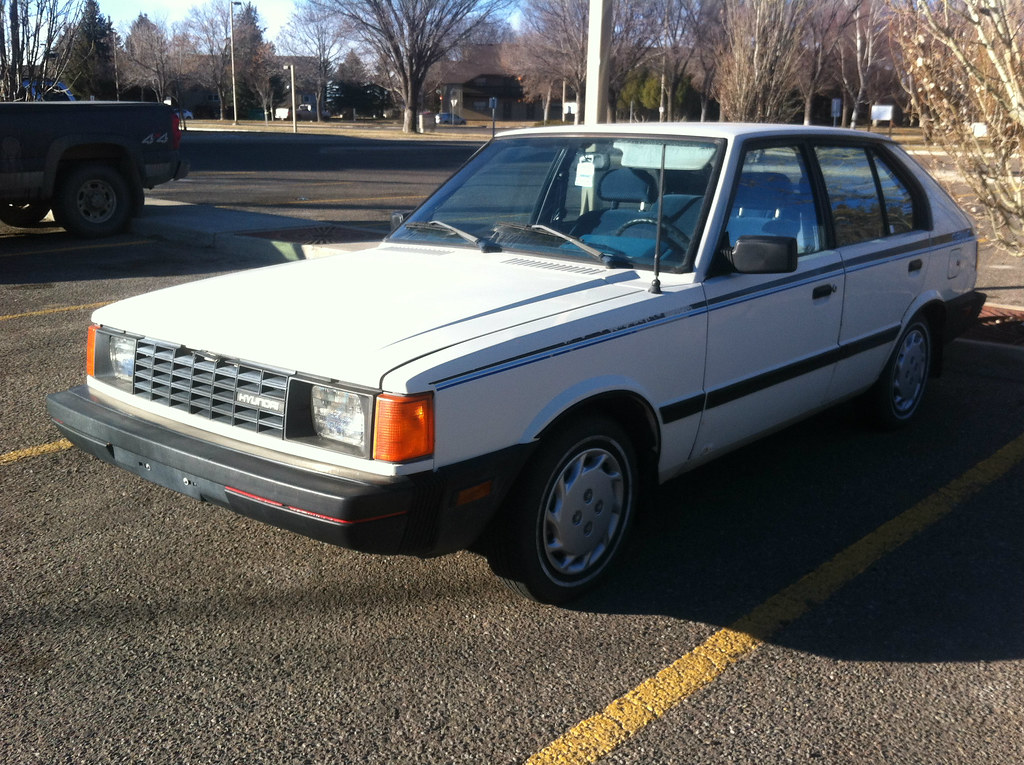1986 Hyundai Pony A Canadian Specification Hyundai Pony