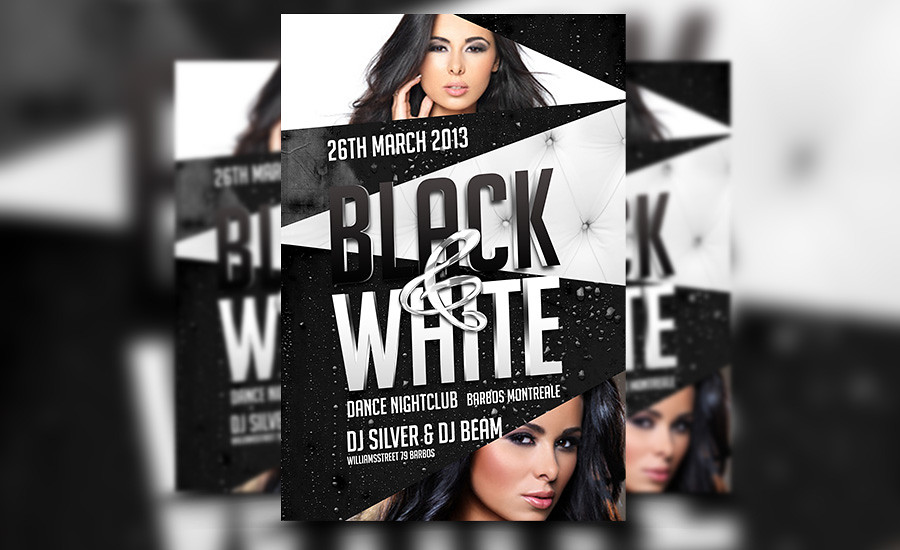 Black And White Party Club PSD Flyer Template Download Thi Flickr