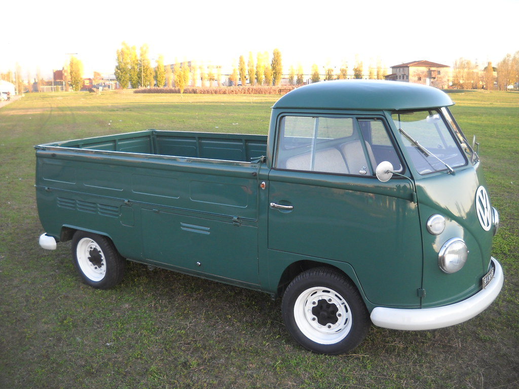 vw pickup t1 single cab volkswagen bus single cab green 19 flickr. Black Bedroom Furniture Sets. Home Design Ideas